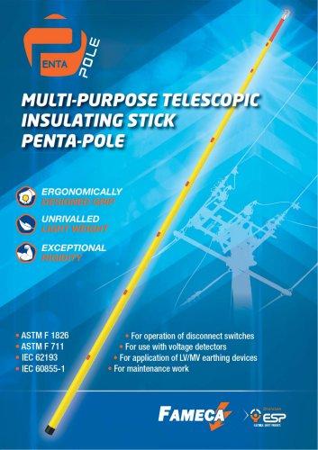 Telescopic Insulating Stick PENTA-POLE