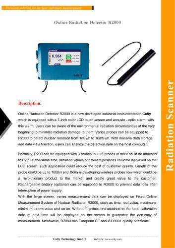 Online Radiation Detector R2000