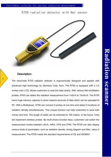 R700 radiation detector with NaI sensor