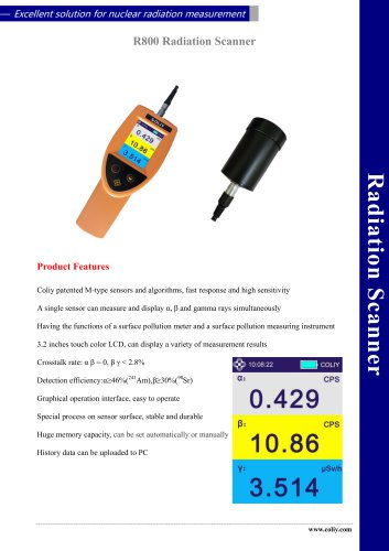 R800 Radiation Scanner