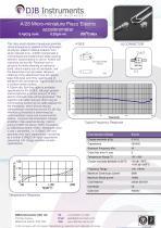 Micro-miniature piezo-electric accelerometer 0.19 gm