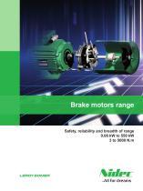 Brake motors range