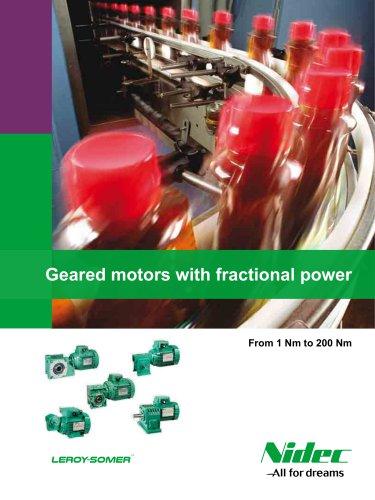 Motoréducteurs de puissance fractionnaire Electromécanique