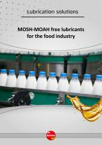 MOSH-MOAH-POSH free lubricants for the food industry
