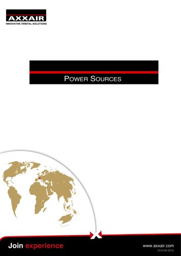 E-catalogue power source