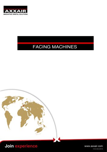 Squaring machines - Facing tools