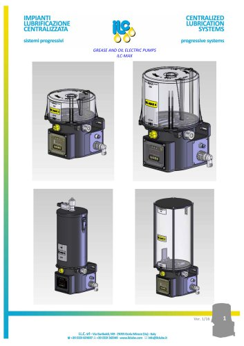 GREASE AND OIL ELECTRIC PUMPS ILC‐MAX