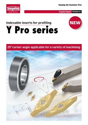 Y-Pro series/ Inserts for profiling