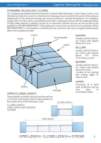Telescopic steel covers