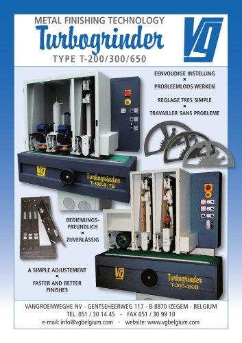 Turbogrinder TYPE T- 200/ 300/ 650