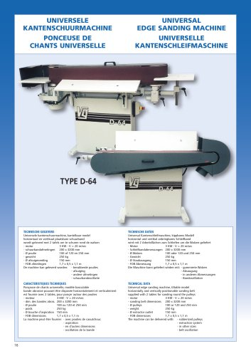 Universal edge sanding machine