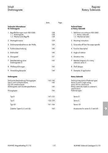 Technical Information Kuhnke Rotary Solenoids