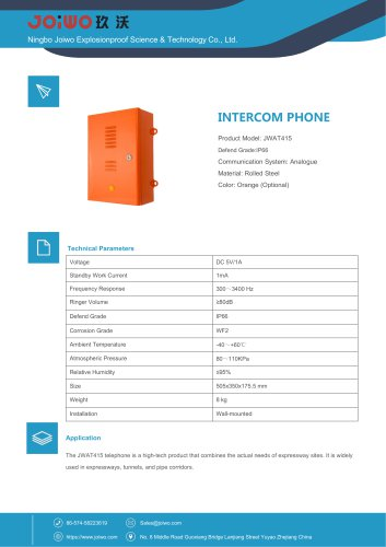 IP66 telephone for Tunnel