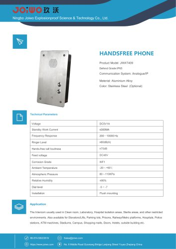 Joiwo Handsfree Jail Speaker Phone JWAT409