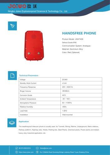 Joiwo Handsfree Phone Waterproof Telephone JWAT408