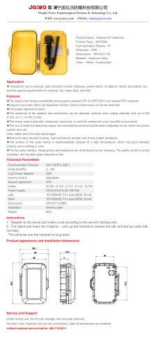 Joiwo Waterproof IP Telephone JWAT909