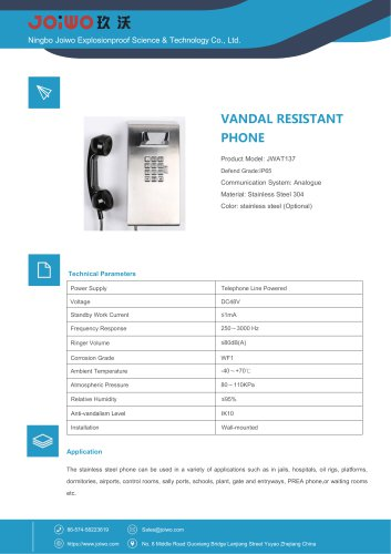 stainless steel telephone