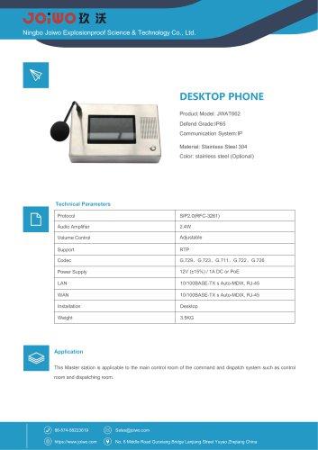 Vandal-proof resistant VoIP Desktop phone JWDT662
