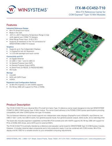 ITX-M-CC452-T10 Datasheet