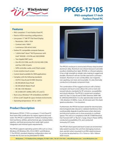 PPC65-1710S-DS