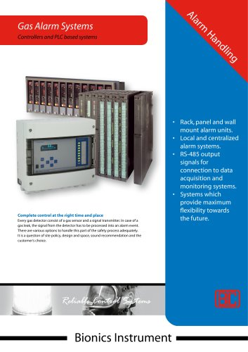 8CWA - Eight channel alarm unit wall mount - RS-485 (SIMS) - IP65