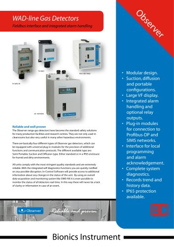 SH-WAD - Single channel suction type gas detector