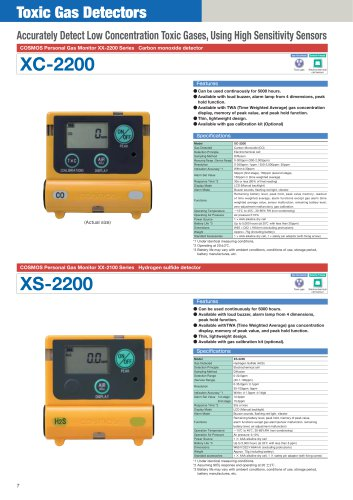 XC-2200, XS-2200 - diffusion type personal gas monitor for hydrogen sulfide