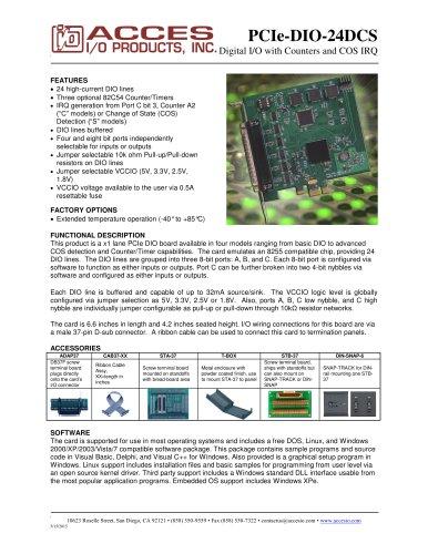 PCIe-DIO-24DCS