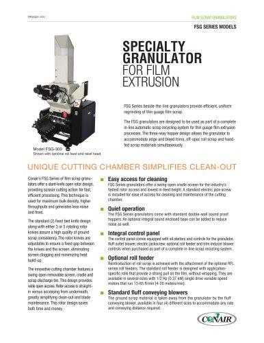 Film Scrap Granulators