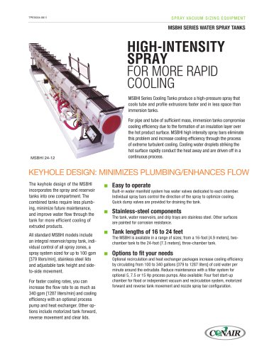 Msbhi Series High Intensity Water Spray Tanks