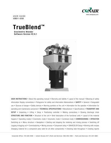 TrueBlend™ Gravimetric Blender Software Version V2.9.1