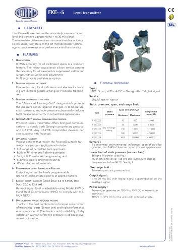 FKE - Level transmitter