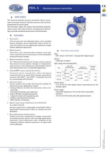 FKH - Absolute pressure transmitter