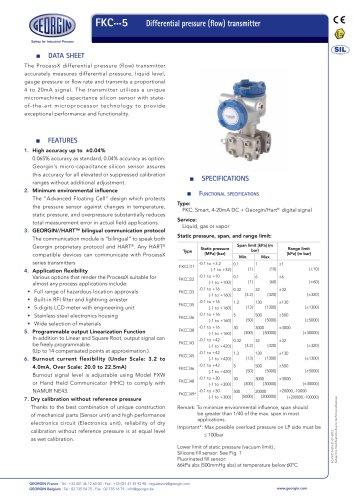 process transmitter FKC series