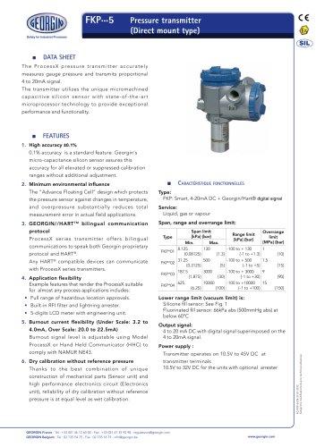 process transmitter FKP series