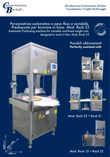 Automatic Portioning machine-Mod. Rock 23