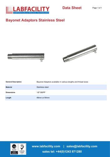 Bayonet Adaptors Stainless Steel