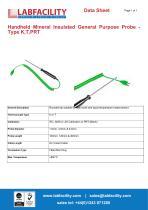 Handheld Mineral Insulated General Purpose Probe - Type K,T,PRT