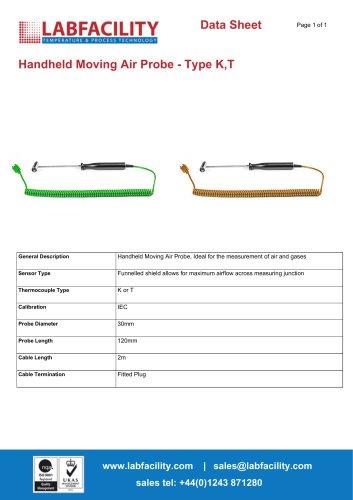 Handheld Moving Air Probe - Type K,T