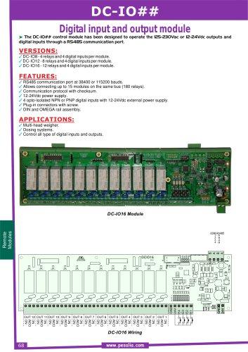 DC IO - ## Digital input and output module