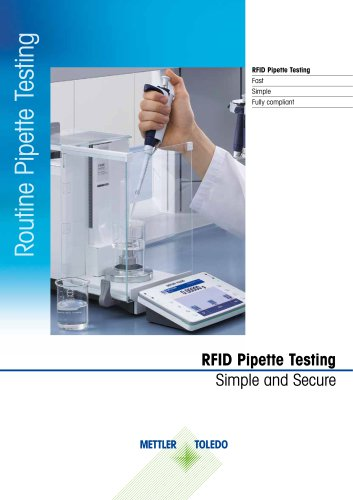 RFID Pipette Testing Simple and Secure