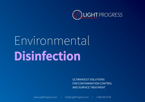 ULTRAVIOLET SOLUTIONS FOR CONTAMINATION CONTROL AND SURFACE TREATMENT