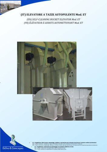 SELF-CLEANING BUCKET ELEVATOR Mod. ET