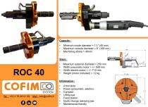 ROC 40 - Pipe Beveling Machine Internal Clamping