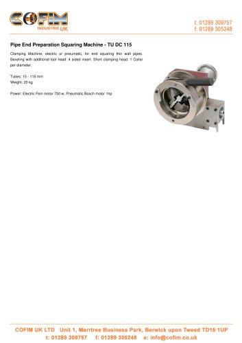 TU DC 115 Pipe End Preparation Squaring Machine