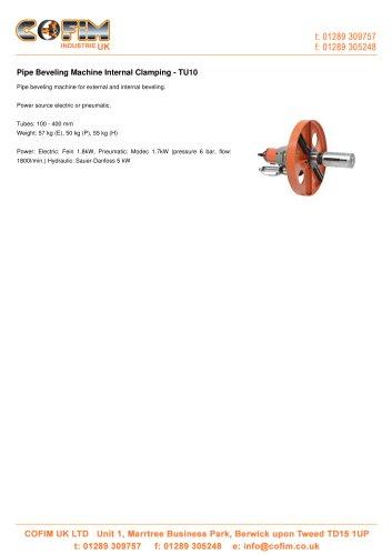TU10 Pipe Beveling Machine Internal Clamping