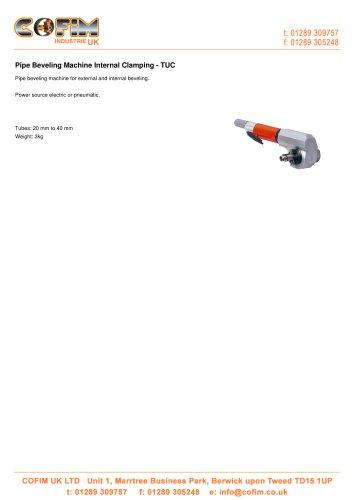 TUC Pipe Beveling Machine Internal Clamping
