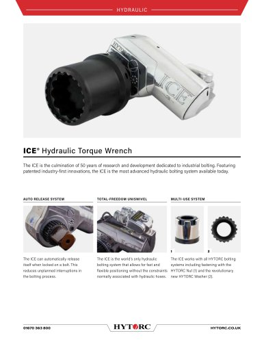 ICE Limited Clearance Hydraulic Torque Wrench