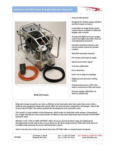 JetStream 115/230 Torque & Angle Hydraulic Pump