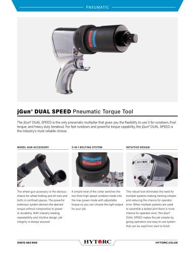 jGun® DUAL SPEED Pneumatic Torque Tool